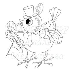 Сообщество иллюстраторов | Иллюстрация Курица и цыпленок.