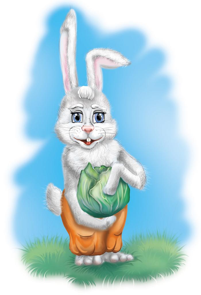 Картинка сказочных зайцев