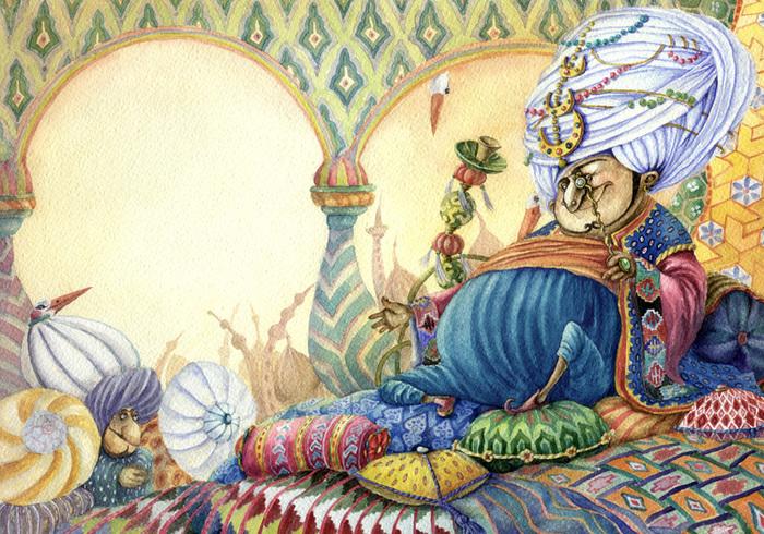 Открытки, султан картинки из сказок