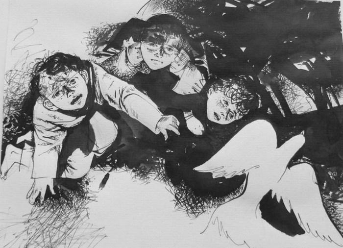 Рисунки к рассказу бежин луг русалка