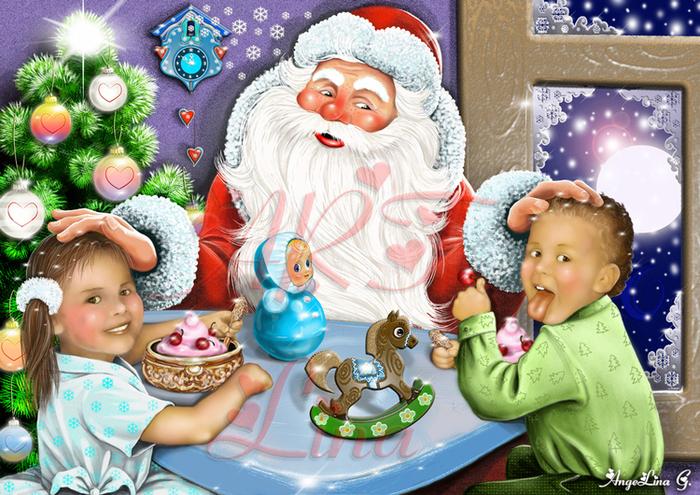 Картинки в гостях у деда мороза