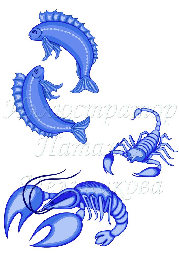 Татуировки знака зодиака рыбы Фото тату знака зодиака рыбы