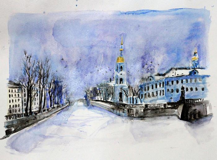 рисунок петербурга зимой зависимости региона