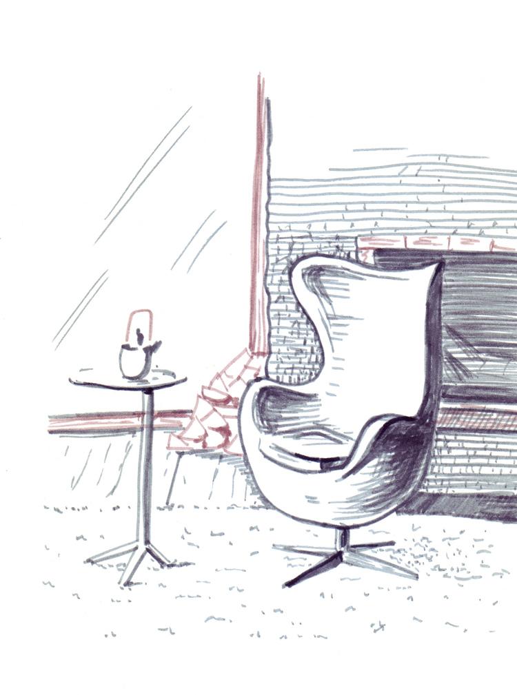 интерьер рисунок:
