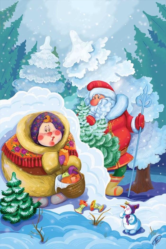 Картинки морозко из сказки для детей, днем
