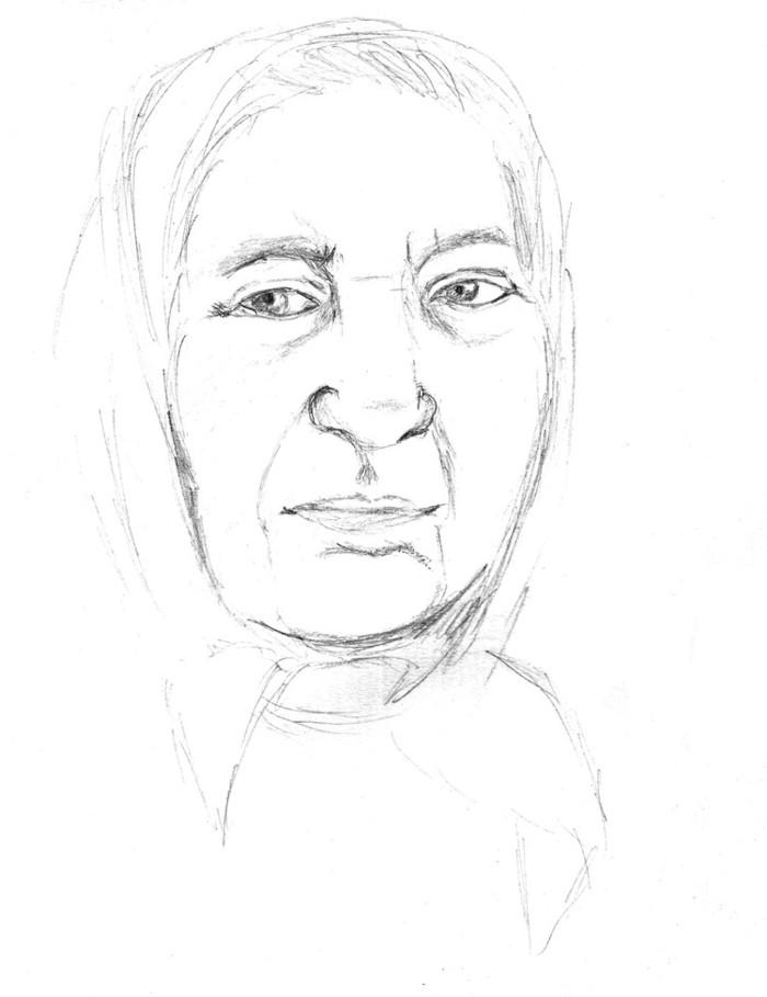 Как нарисовать картинку бабушки