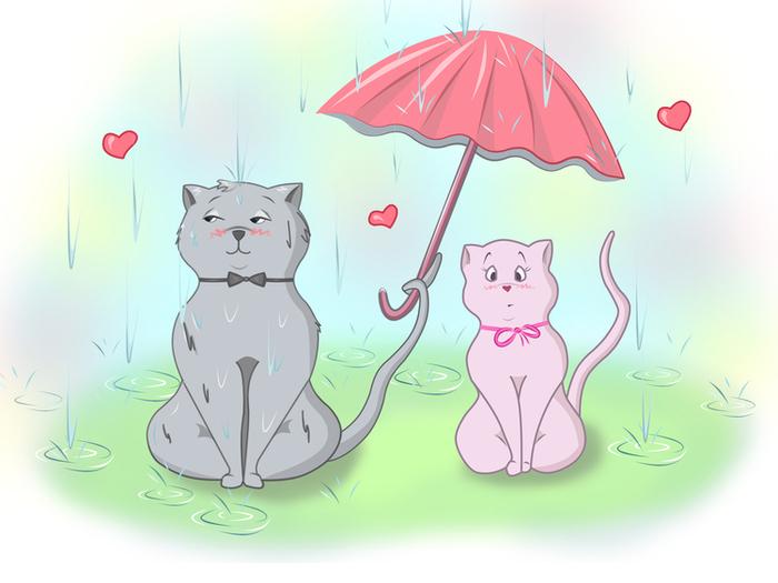 Прикольные открытки с котенком аллергия на дождь, мужчине врачу картинки