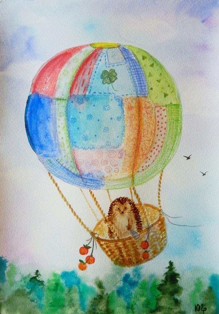 рисунок на воздушном шаре своими руками делать можно