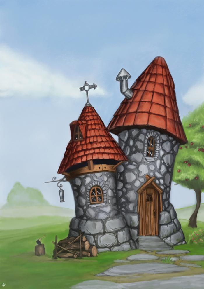 Сказочный домик нарисованные 11