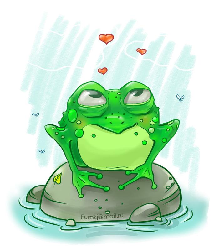 Валентин, жаба открытки