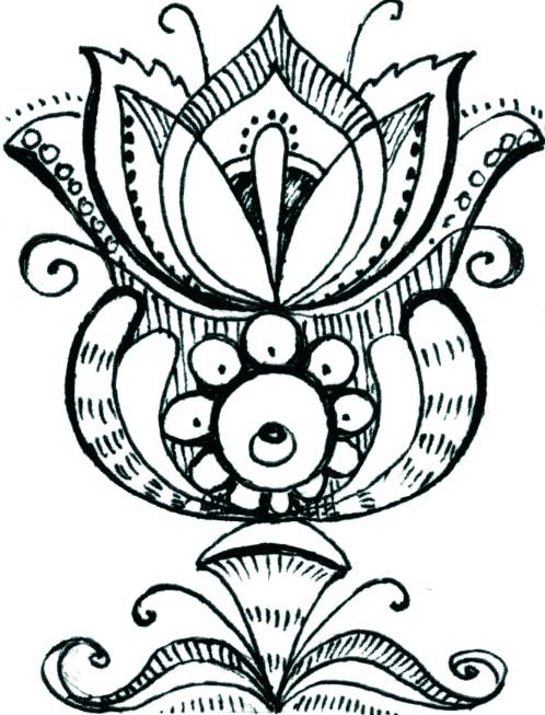 Рисунок каменный цветок 5 класс