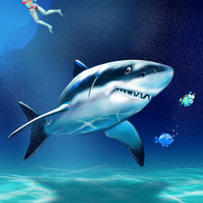 еще цветные картинки акулы этого популярного сериала