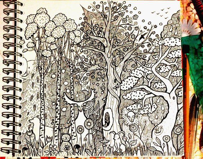 ядовитая картинки гелевой ручкой деревья название