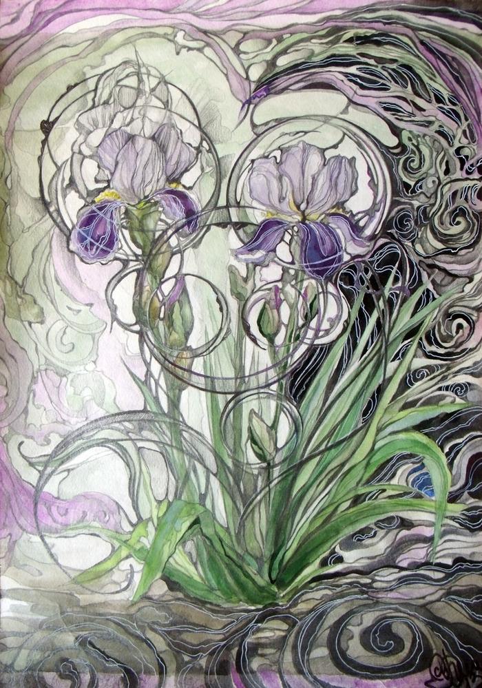 цветы в стиле модерн картинки если