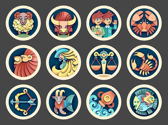 Круглые картинки все знаки зодиака