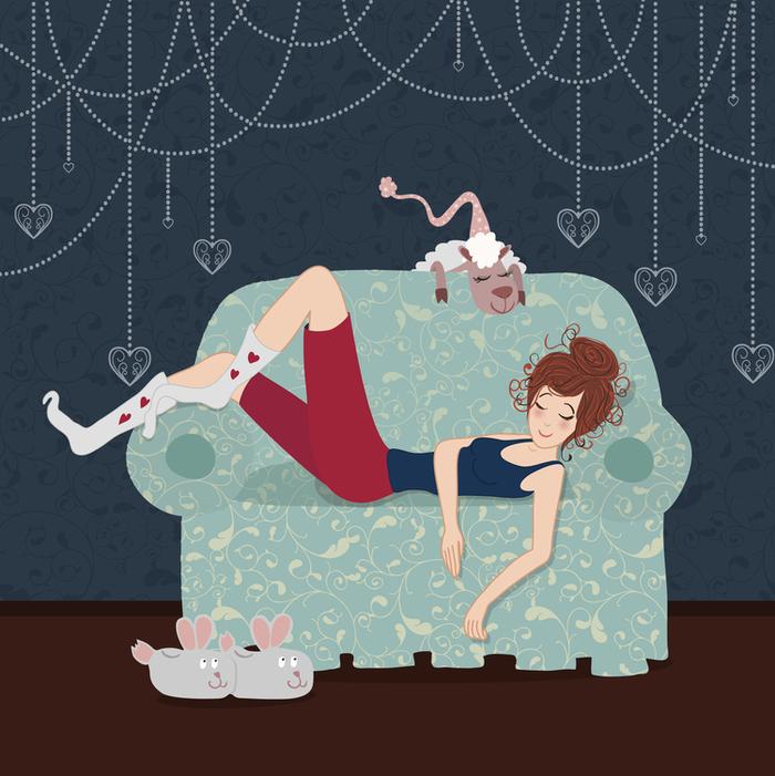 Женщина на диване прикольные картинки