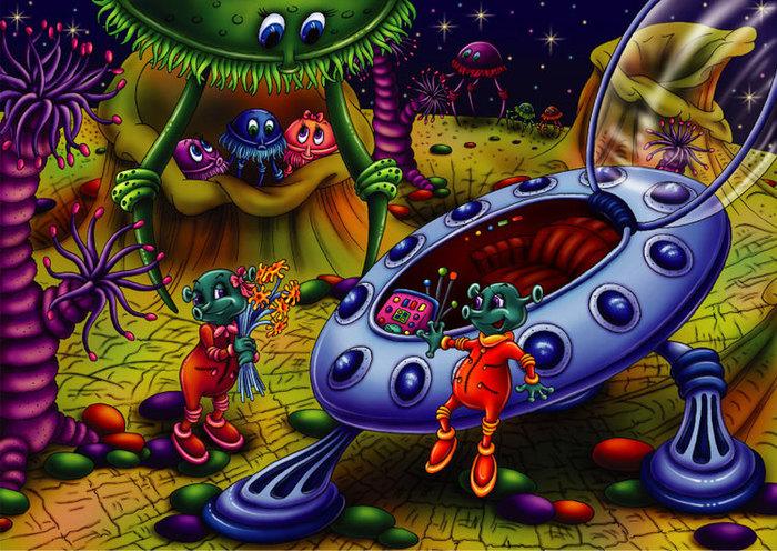 Картинки марсиане для детей