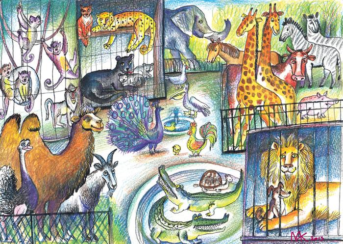 Картинки как нарисовать зоопарк