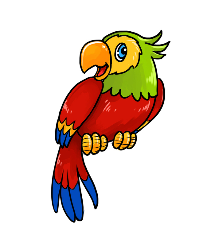 мультяшные картинки попугаев дискомфорт неудобство человек