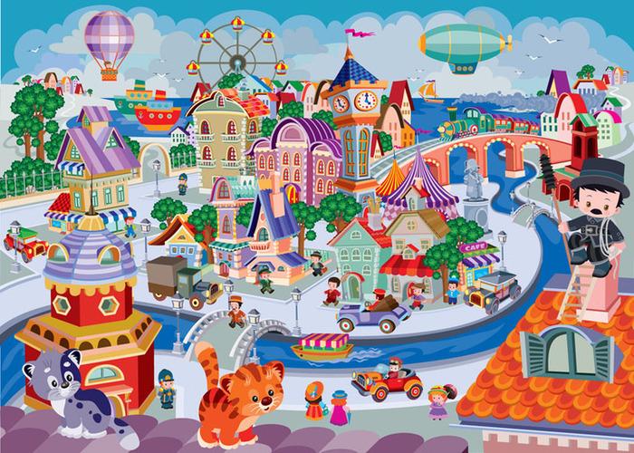 Дети в городе картинки