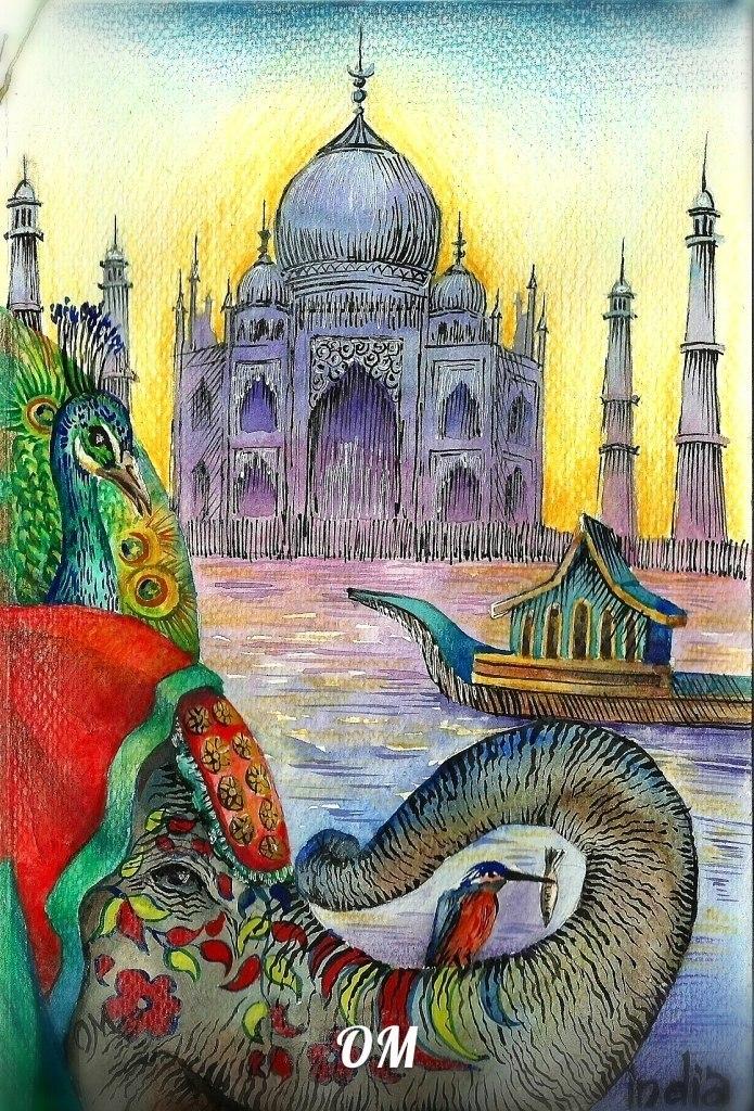 Индия нарисованная картинка