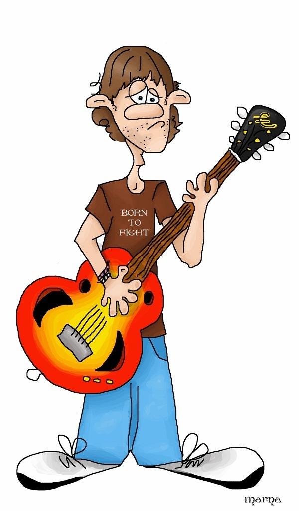 Картинка гитара смешная