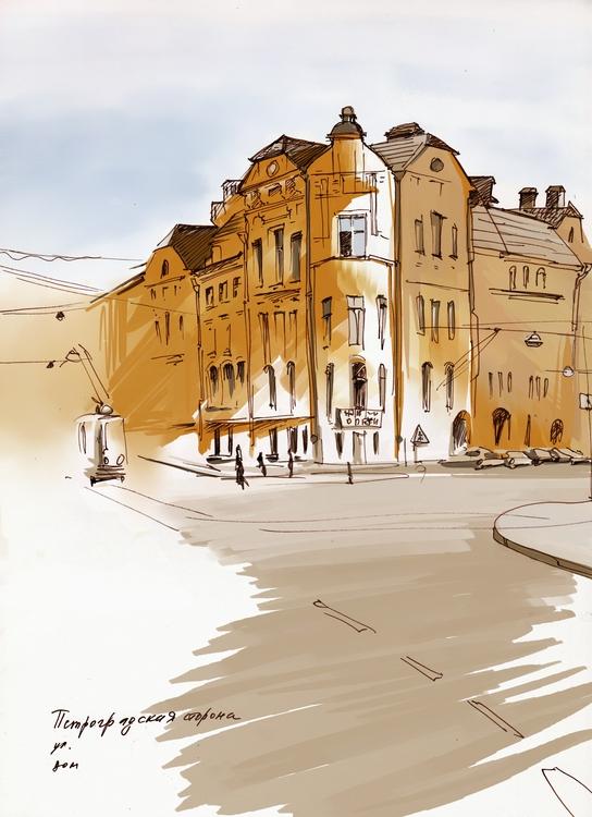 Петербург умытый летним дождем