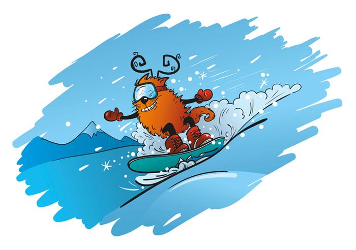 Открытки с днем рождения сноубордиста