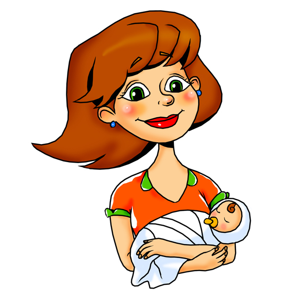 Открытки, картинки для детей мама