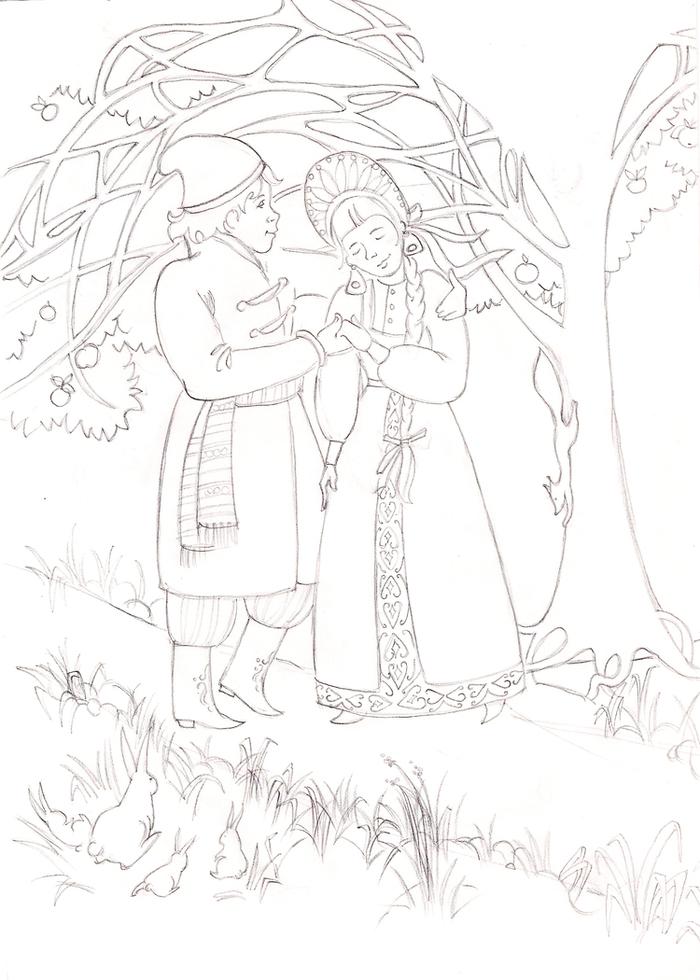 самой иллюстрации к сказке иван да марья выпечки