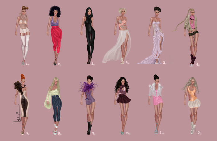 Glamorous Fashion Sketches and Illustrations: Best 50 64