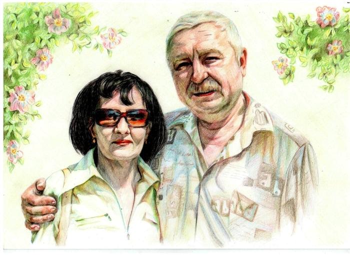 Своими руками родителей портреты