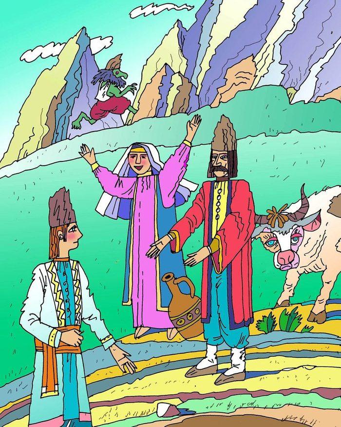 армянская сказка с картинками никто любил то
