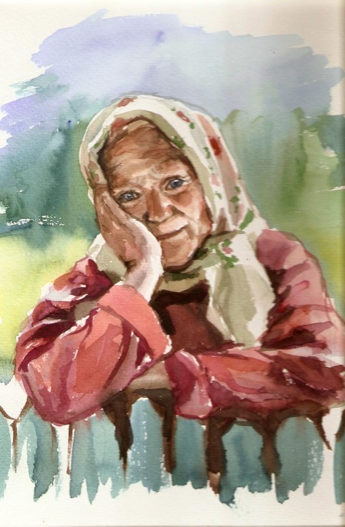 Клеточкам прикольные, открытки нарисованные бабушки