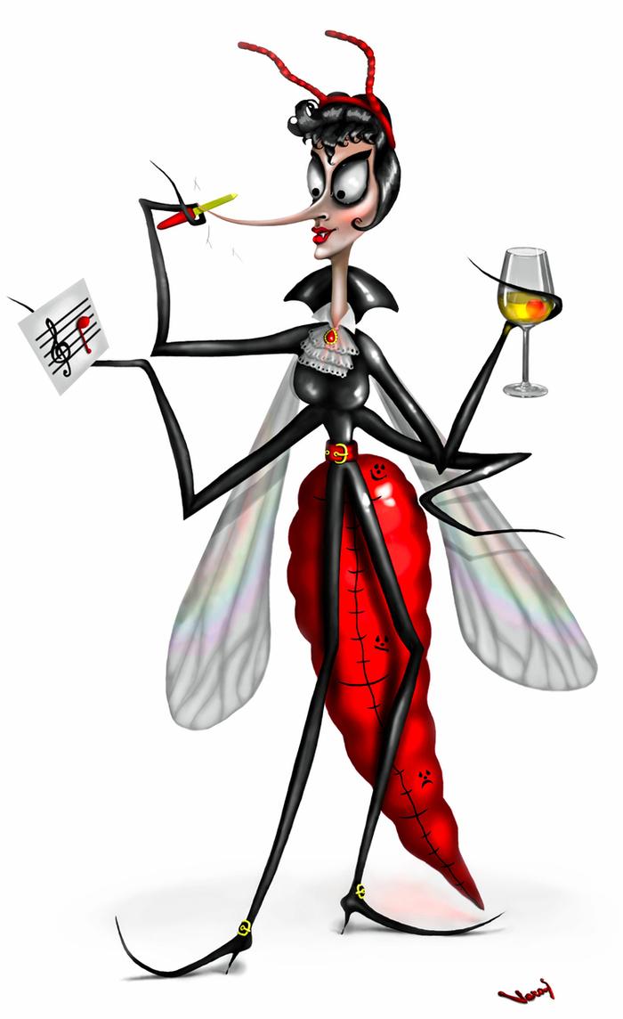 Картинка смешных комариков, для
