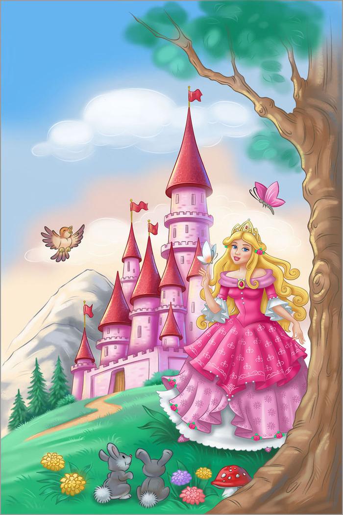 Картинка принцессы в замке