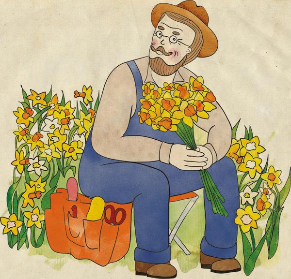 решила цветные картинки садовника абаду