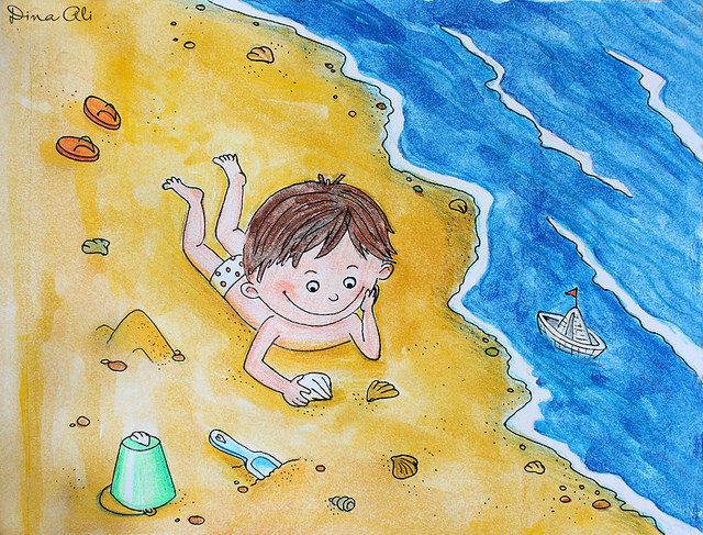 Детские рисунки о море картинки