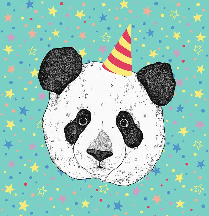 поздравительные открытки с пандами на день рождения хранят