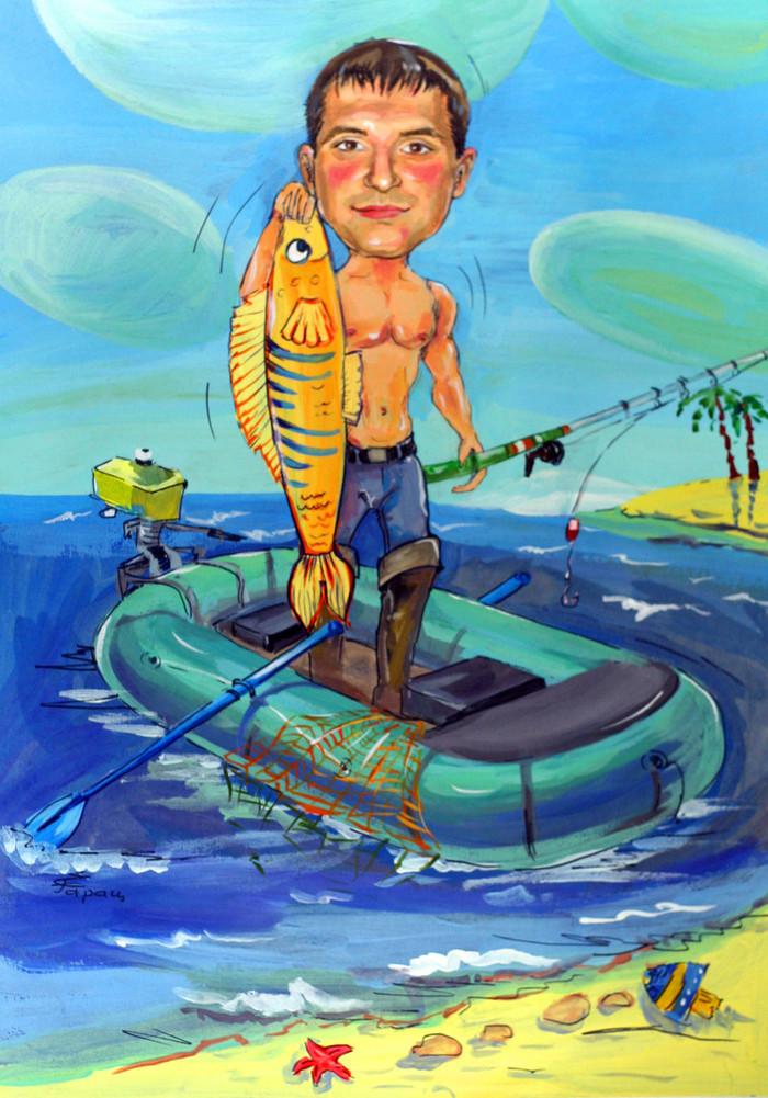 Картинки мальчик на лодке и русалка