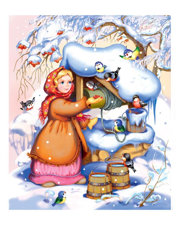 из рисунок морозко настеньки сказки