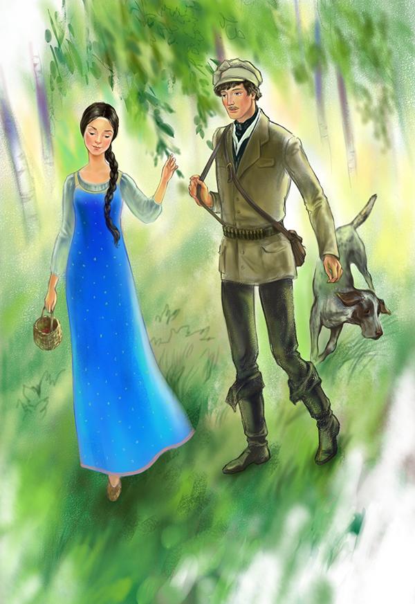 картинки к повести барышня крестьянка пушкина карандашом