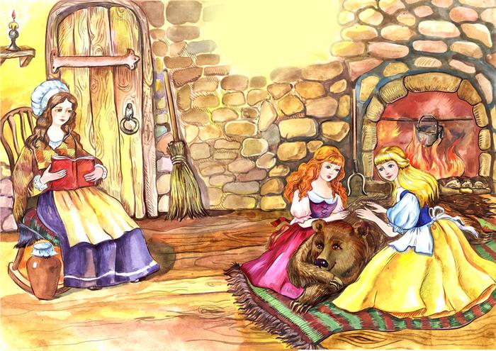 Сказка и картинки к сказкам братья гримм