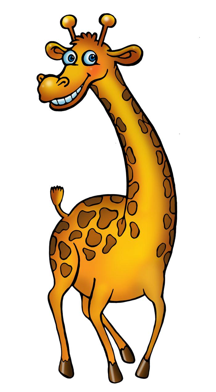 Жираф рисунки смешные