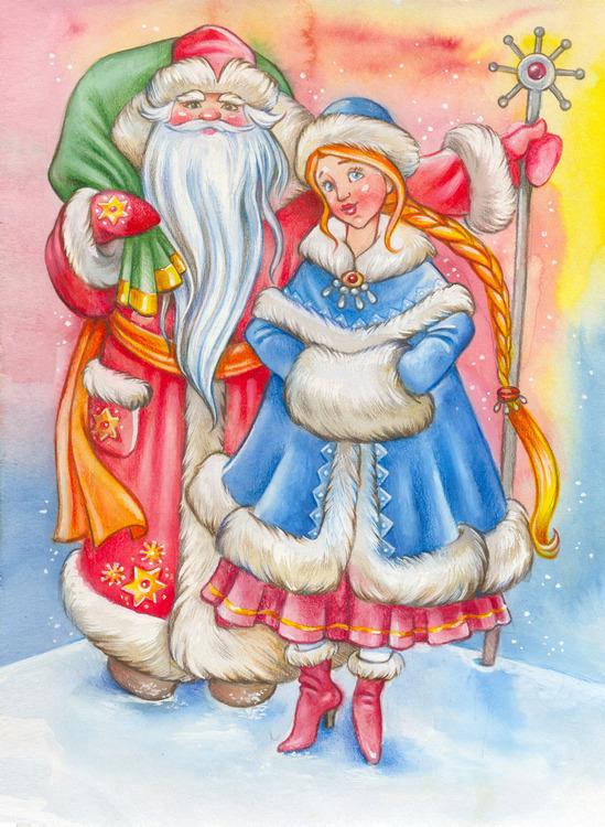 Стихи любви, классные картинки с дедом морозом и снегурочкой
