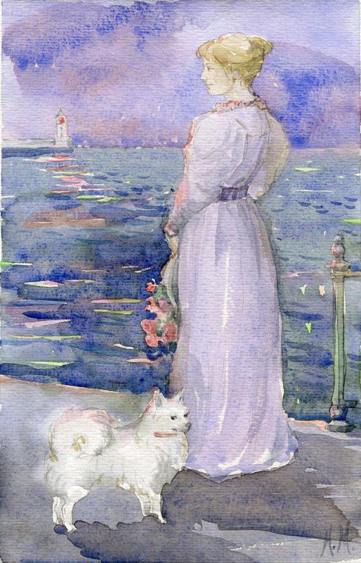 Картинки чехов дама с собачкой