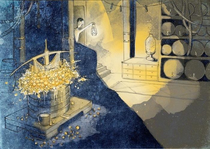 вино из одуванчиков иллюстрации к книге