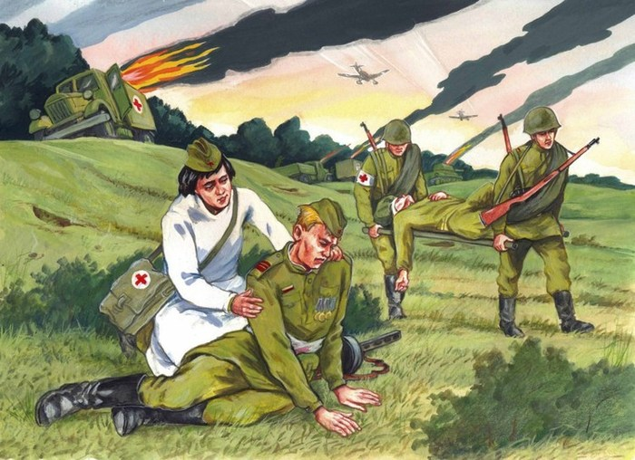 Рисунок иллюстрация к военной книге