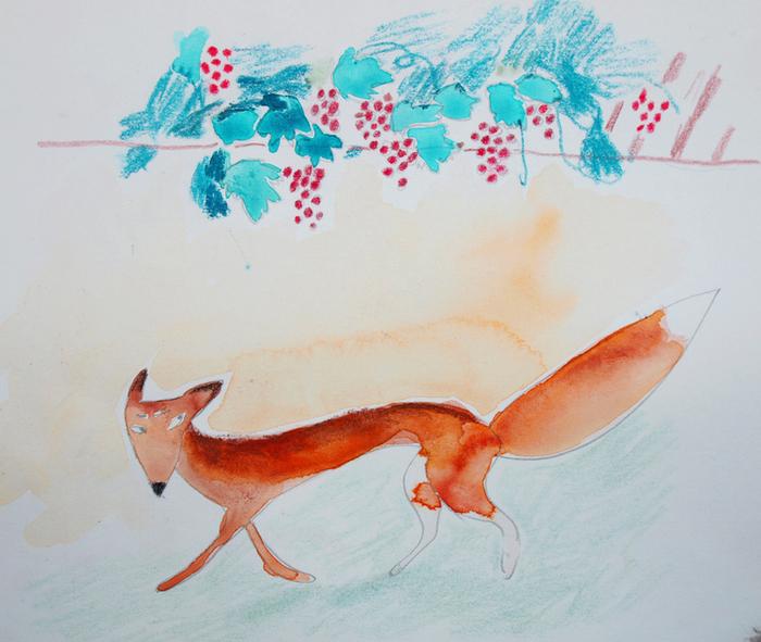 картинка для басни лиса и виноград нет