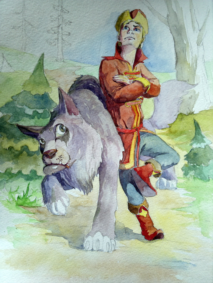 Иллюстрации к сказке иван царевич и серый волк нарисовать